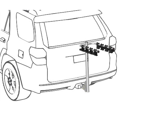 Prorack Porte-vélos pour Transport d'attelage