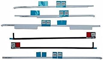 Olvins - Strisce di adesivo per Schermo LCD di Apple iMac A1418da 21,5'' pollici, edizioni2012201320142015