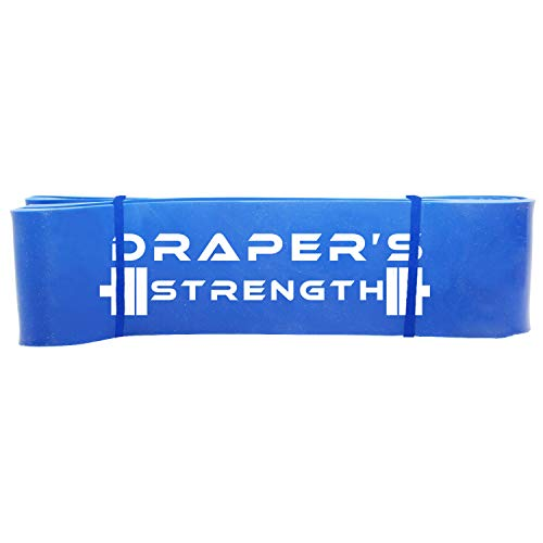 "Draper's Strength Heavy Duty Pull Up Assist and Powerlifting Stretch Bands (Single Band or Set) 41-inch #6 Blue (60-150 lbs) 2-1/2"" x 41"" long"