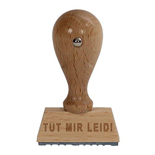 Bütic plezier houten stempel V3/Fun-stempel HS4010 met opschrift of tekst naar keuze Doet me LEID!