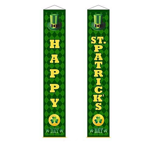 Moent Cartel para puerta de casa con texto en inglés 'Happy St. Patrick's Day'
