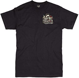 Lucky 13 Black Whiskey And Tears T-Shirt (Xx-Large, Black)