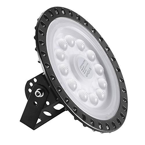 UFO LED, 50W Led Hallenstrahler, 6000K-6500K Kaltweiß, 120° Abstrahlwinkel Industrielampe, IP65 Wasserdichte - SMD2835 48Leds