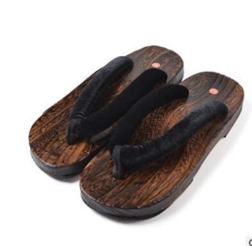 OHHCO Zapatillas de Sandalias Geta obstruida Japonesa Tradicional Chino Impreso Kimono Chanclas de Madera Chanclas for Mujer Zapatos de Mujer Sandalias al Aire Libre Cosplay Disfraz-2_42