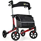 Planetwalk Premium Rollator Walker - Foldable Rolling Walker with Seat & Bag - PU Soft Wheels Comfort Design - Mobility Aid Gift for Senior