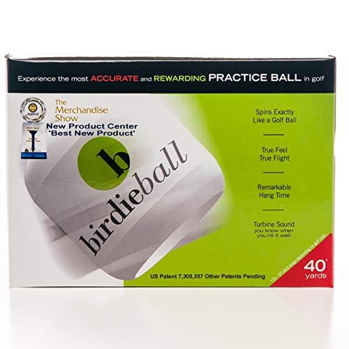 BirdieBall Golfbälle zum Üben, Full Swing, Limited Flight Golf Übungsbälle, perfekte Trainingshilfe für alle Golfer (12 Stück)