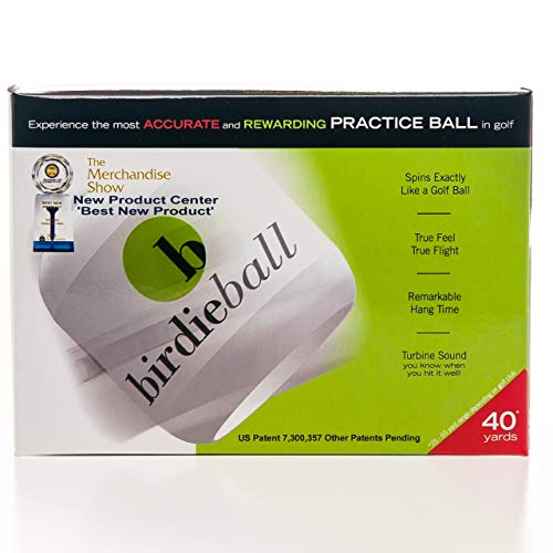 BirdieBall Practice Golf Balls, Full Swing Limited Flight...