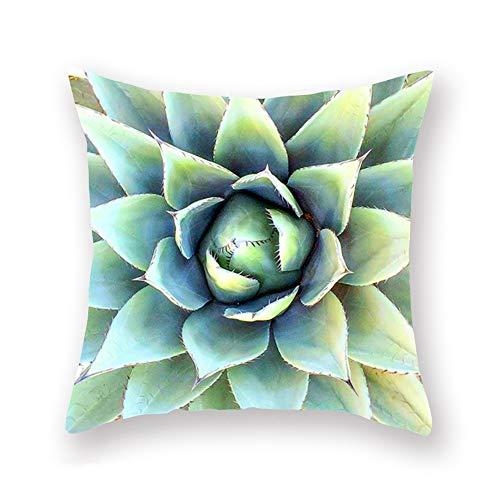 "Fukeen Throw Pillow Cases Succulent Plants Green Cactus Flower Decorative Home Chair Super Soft Cushion Cover Standard 18""x18"" Pillow Protectors (Cactus 4)"