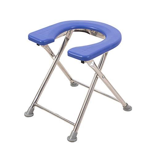 Vei Jie Db Zusammenklappbarer Rollstuhl, Multifunktions-Duschkopf mit DREI Einsätzen, gepolsterte Toilette, Mobile Toilette Schwangere/Behinderte - 34 cm x 27 cm x 35 cm