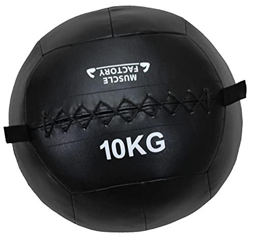 MUSCLE FACTORY メディシンボール ソフト ウォールボール 体幹 トレーニング 筋トレ 10kg