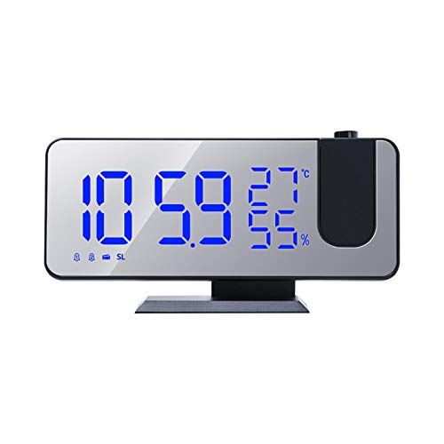 Relojes De Alarma, Despertador Digital - Despertador De Proyección - Reloj Despertador Digital LED Con Puerto De Carga USB Y Celda De Botón Para Dormitorio, Oficina, Cocina, 185 × 45 × 91 Mm