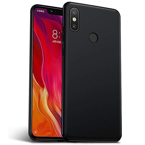 Rozeda Xiaomi Mi 8 Cover, Anti Scratch Anti Shock Ultra Slim PC Durable Protective Case for Xiaomi Mi 8 (Black) (6,21 Inch)