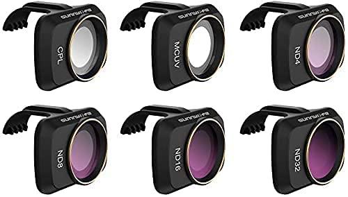 Prodrocam - Filtro obiettivo per DJI Mini 2 per DJI Mavic Mini Drone, kit filtro profesionale (CPL+MCUV+ND(4-8-16-32))