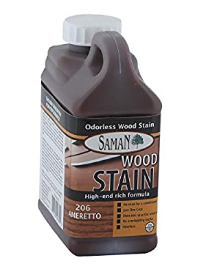 Saman TEW-010-12 Interior Water Based Stain for Fine Wood, Whole wheat