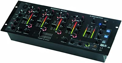 American Audio Qspand Pro 4 Ch Pro Dj Mixer With Srs And True Bass Built In