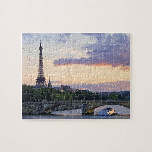 CICIDI France,Paris,Tour Boat on River Seine,Eiffel Jigsaw Puzzle 1000 Pieces for Adult Entertainment DIY Toys , Graet Gift Home Decor