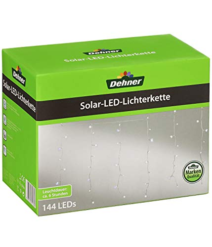 Dehner Solar Lichterkette LED, Länge 200 cm, wetterfest, Kunststoff, grau