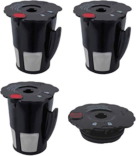 119367 Reusable Coffee Filter Compatible with My K-Cup Keurig 2.0 K475 with Cover Lid K200 K250 K300 K350 K400 K450 K460 K460 K500 K550 K560 K575 Coffee Brewers Small Black Updated Model