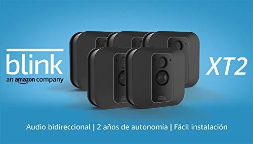 Blink XT2 | Cámara de seguridad inteligente, exteriores e interiores, almacenamiento en el Cloud, audio bidireccional, 2 años de autonomía | 5 cámaras