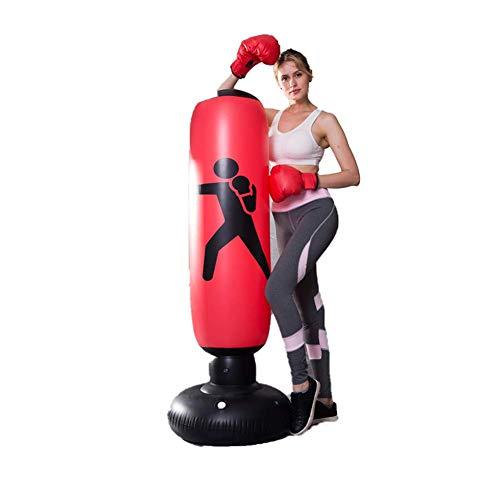 XHLLX Bolsa De Perforación, Bolsa De Perforación Inflable Freestanding Ninja Boxeo Bolsa De Boxeo Vuelta para Practicar Karate, Taekwondo, MMA, Niños Adultos Boxeo