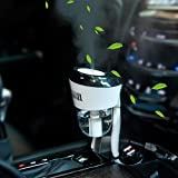 Car Humidifier Essential Oil Diffuser with Dual USB Charger Adapter, Portable Auto Shut-Off Air...
