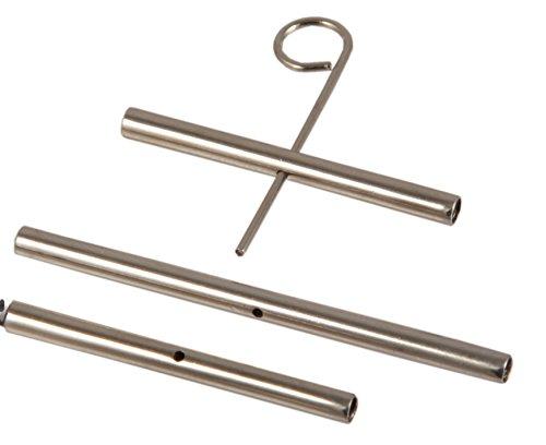 KnitPro Knit Pro Seilverbinder-Set 2 x 35 mm, 1 x 50 mm inkl. Schlüssel Kabelanschlüsse, Kunststoff, Silber, 3er