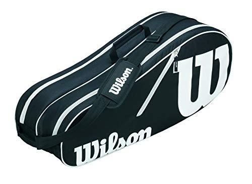 Wilson Tasche Advantage 6 Pack Bag Raquetero-Unisex, Negro/Blanco, NS