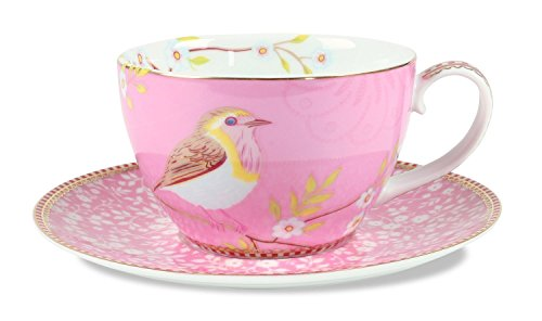 Pip Studio Early Bird Teetasse, Rosa, 280 ml
