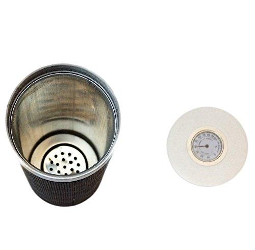 Katzs® - Tubo in alluminio con igrometro e umidificatore per sigari