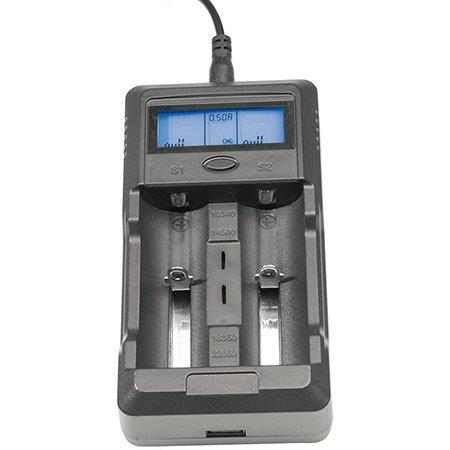 Technoline BC 200 Universal-Ladegerät mit LCD Display und USB-Anschluss