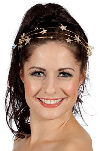 Wilbers & Wilbers Sterne Kopfschmuck Rotgold Metall Schmucksteine Tiara Haarreifen Kopfbügel Kostüm-Zubehör Göttin