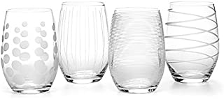 Mikasa Cheers Party Stemless Wine Glasses, Set of 4