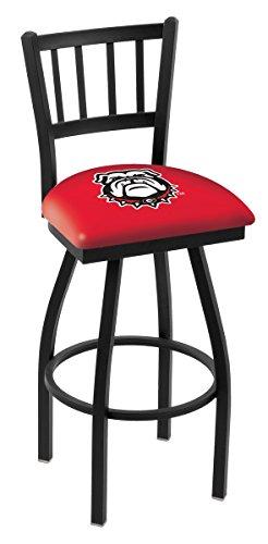 "Georgia Bulldogs HBS Bulldog Jail Back High Swivel Bar Stool Seat Chair (30"") image"