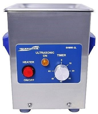 SharperTek Heated Ultrasonic Cleaner 2 Liter. Tank Size: 6' x 5.25' x 4' (L x W x H) .