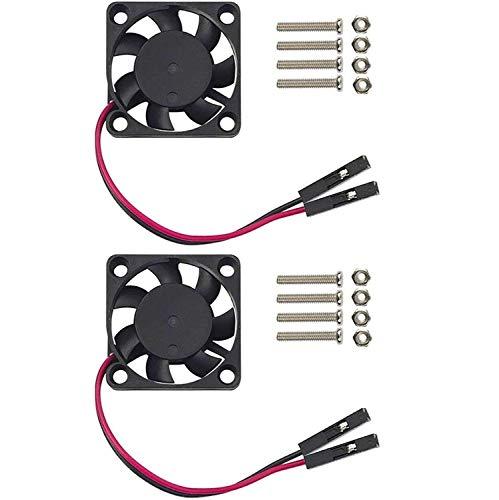 Easycargo Raspberry Pi Ventilador, 3,3–5v DC silencioso ventilador para Raspberry Pi 3B+, 3B, 2, B+, RetroFlag NESPI Funda 30mm (2 unidades)