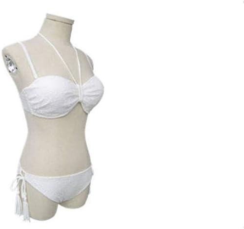 1949shop femmes Bikini Halter Triangle définit Deux Maillots de Bain rembourrés (Couleur  Blanc, Taille  M)