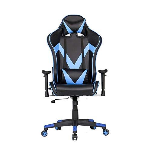 Zhenhe E-Sports silla ajustable Apoyabrazos Racing Butaca de juego con respaldo alto Silla de oficina PC Ordenador rotación de 360 grados for el juego de Trabajo (Color: Color de imagen, tamaño: 70X