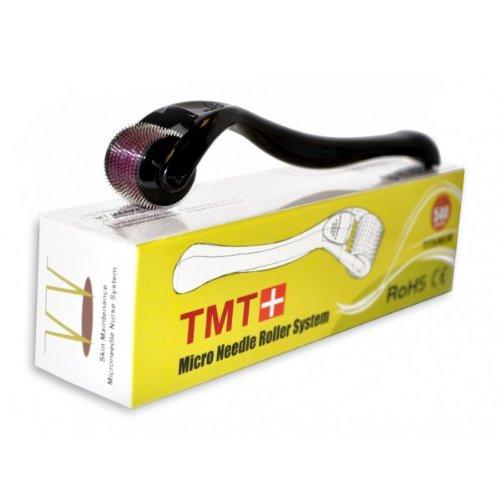 (540Nadeln) TMT weiß Micro Nadel Roller System Titan für Falten, Narben, Akne, Cellulite Behandlung (effektiver als Regular 192Nadel Derma Rollen)–0,25mm