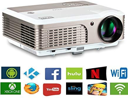 """2019 LCD LED Outdoor HD Projector Multimedia Digital Movies Home Theater Projector 3900 Lumen, WXGA, 200"""" Dispaly, 50000hrs Lamp-life, with HDMI RCA Audio USB VGA for PC Wii TV Box Laptop DVD PS4 PS3"""