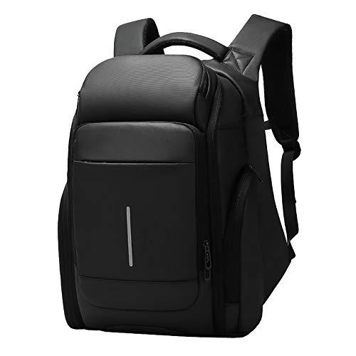 Business-Laptop-Rucksack, schlanker Reise-Computer-Rucksack mit USB-Ladeanschluss, professioneller wasserdichter College School-Daypack für Damen und Herren, für 15,6-Zoll-Laptop und Notebook-Schwa