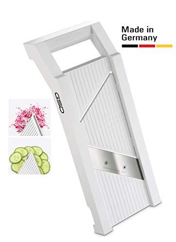 GSD Universal Gemüsehobel 30002 mit 2 Einsätzen in Farbe weiß