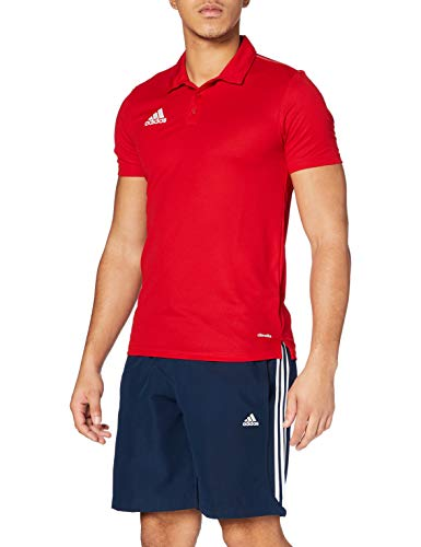 adidas Core 15 Climalite Polo Homme, Power Red/White, FR : S (Taille Fabricant : S)