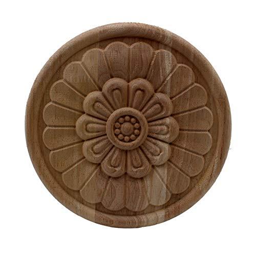 Gaodpz Legno Floreale Intagliato Decalcomania Angolo Appliques Telaio Porte da Parete mobili in Legno Decorativo Decorativo Figurine in Legno Artigianato (Colore : 20cmX20cm)