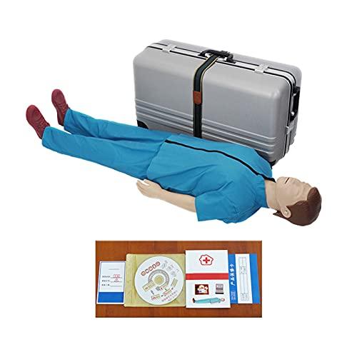 Full-functie training manikin cardiopulmonale reanimatie simulator full body cpr training simulator dummies, realistische aanraking voor lesgeven op de borstcompress