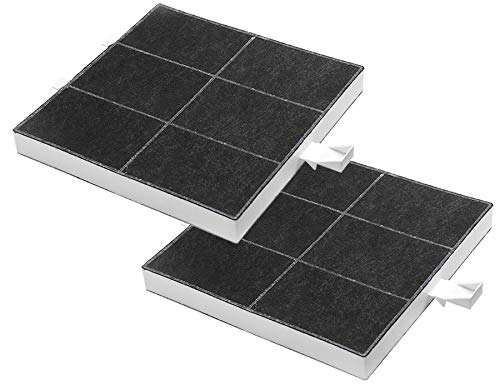 2 x AquaHouse Aktivkohlefilter für Dunstabzugshauben von Bosch Neff Siemens Constructa Balay 00360732, 00357585, 360732 Kohlefilter