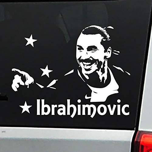 Zlatan Ibrahimovic Porträt Fußball Sport Fußball Star Spieler Auto Auto Fenster Glasaufkleber Vinyl Wandtattoo Junge Fans Home Decor Wandbild