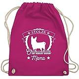 Hunde - Stolze Chihuahua Mama - Unisize - Fuchsia - turnbeutel chihuahua - WM110 - Turnbeutel und Stoffbeutel aus Baumwolle
