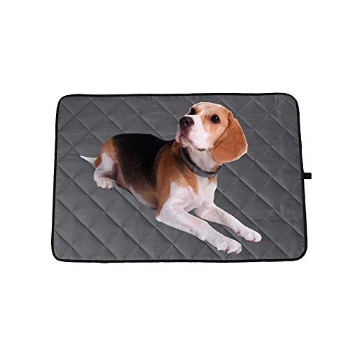 Amasawa Hundeauflage, Haustier Kühlmatte, Selbst Kühlende Hundematte, Hundematte Sommer Kühlkissen wasserdichte rutschfeste Hundematte für Zuhause Unterwegs oder im Auto