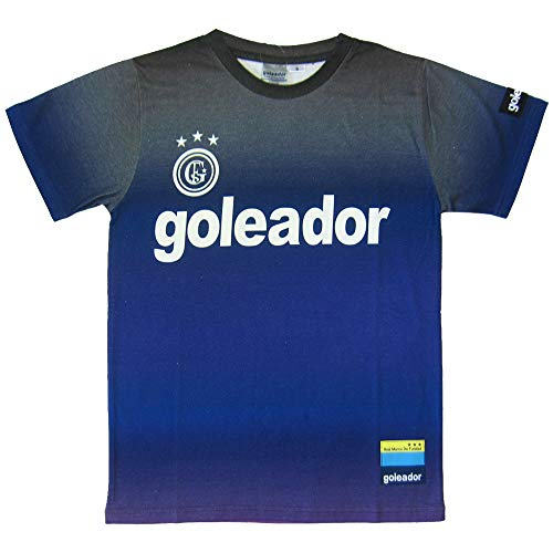 goleador(ゴレアドール) ベーシックロゴジェットプリントTシャツ G-2336 Mサイズ Dブルー