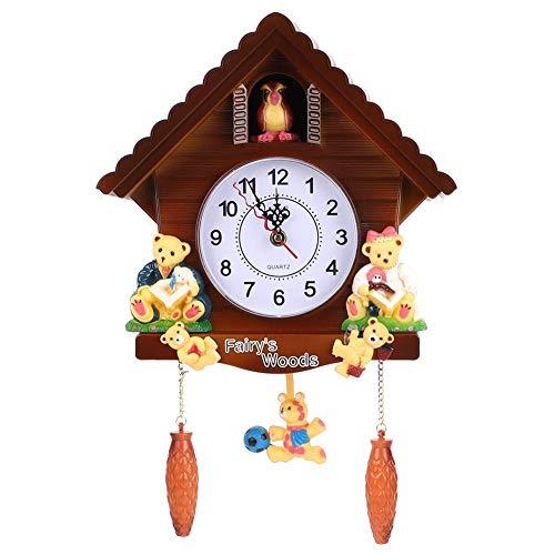 Reloj Decorativo, decoración del Vintage del Arte del Reloj de Pared de la casa del árbol del Reloj de Cuco para el hogar